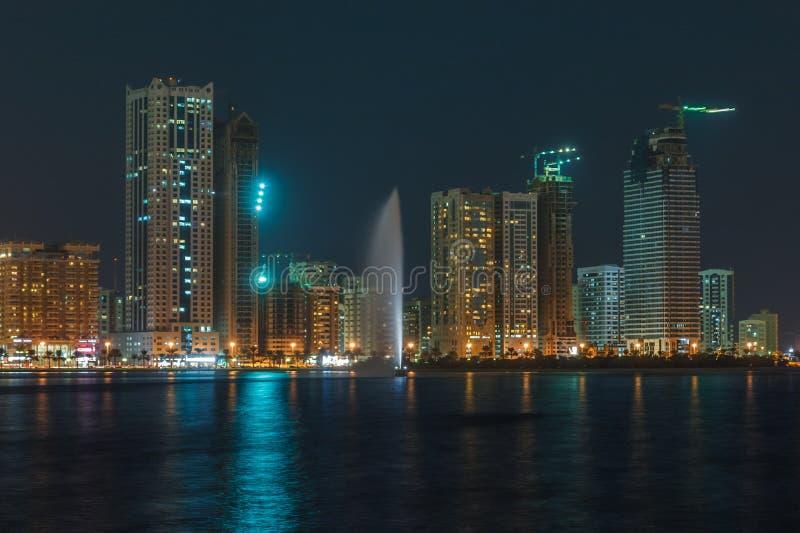 Khalid Lake a Sharjah fotografie stock