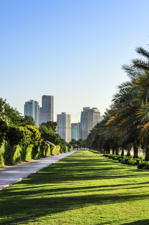 Khalid Lake Trail Sharjah UAE stock images
