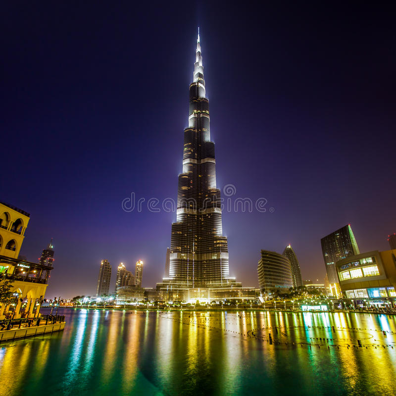 Khalifa Doubai Di Burj Immagine Stock Libera da Diritti