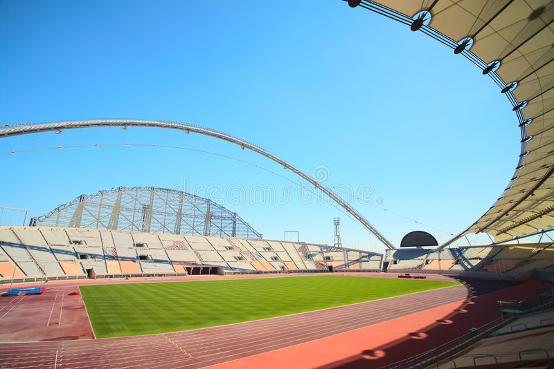 Khalifa sport stadium stock photo