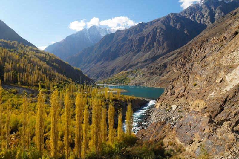 Khalti Lake in Northern area of Pakistan stock photos