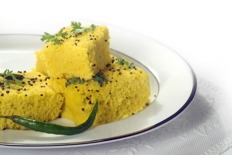 Khaman Dhokla royalty free stock photos