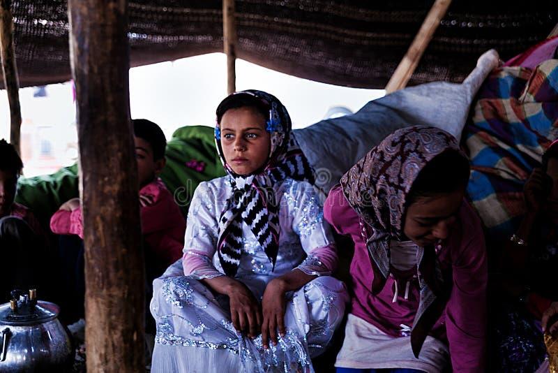Khamsheh游牧人部落 免版税库存照片