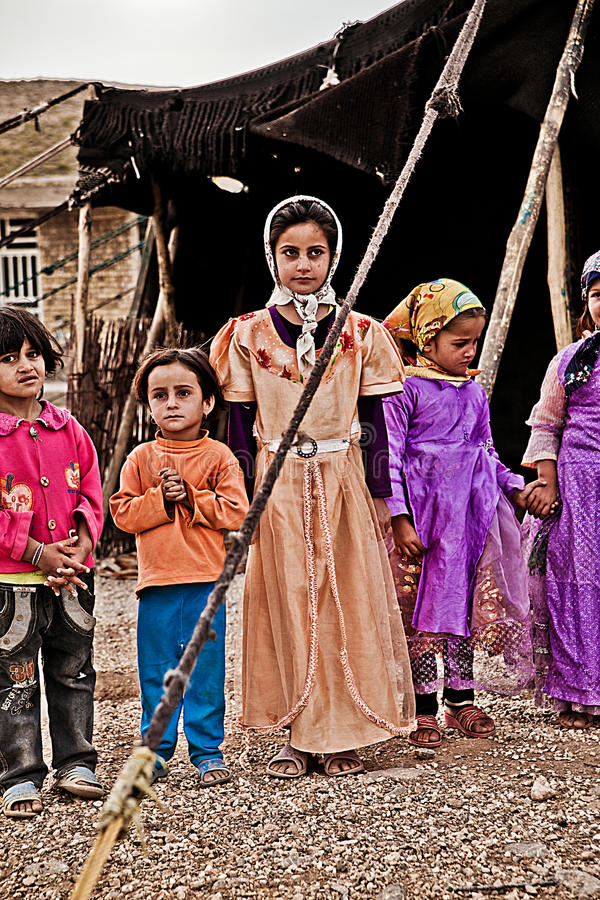 Khamsheh游牧人部落 库存图片