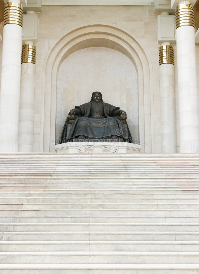 khan άγαλμα genghis στοκ εικόνες
