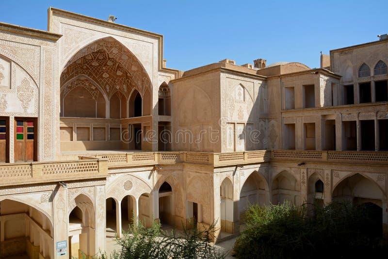 Khan-e Abbasian, Kashan, Iran. Khan-e Abbasian is an old historical mansion in Kashan stock photos