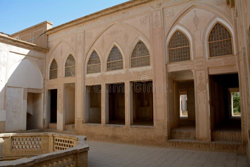 Khan-e Abbasian, Kashan, Iran. Khan-e Abbasian is an old historical mansion in Kashan royalty free stock image
