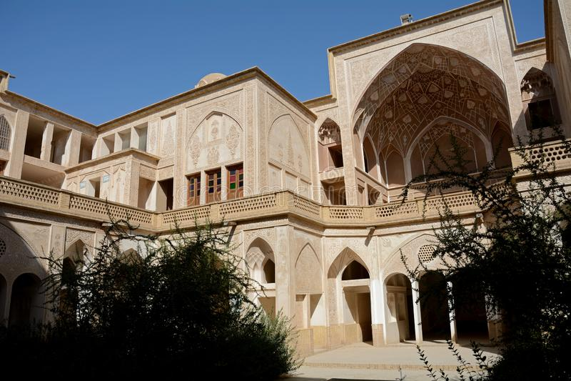 Khan-e Abbasian, Kashan, Iran. Khan-e Abbasian is an old historical mansion in Kashan stock image