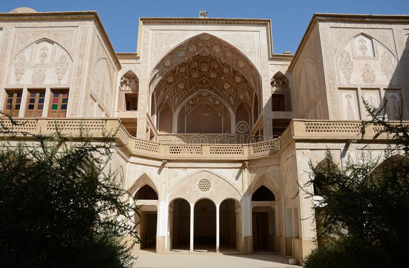 Khan-e Abbasian, Kashan, Iran. Khan-e Abbasian is an old historical mansion in Kashan stock photography