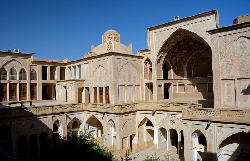 Khan-e Abbasian, Kashan, Iran. Khan-e Abbasian is an old historical mansion in Kashan stock images