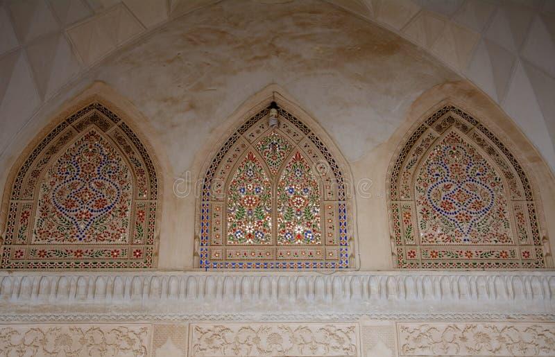 Khan-e Abbasian, Kashan, Iran. Khan-e Abbasian is an old historical mansion in Kashan stock photo