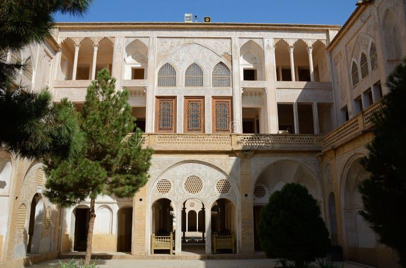 Khan-e Abbasian, Kashan, Iran. Khan-e Abbasian is an old historical mansion in Kashan royalty free stock photo