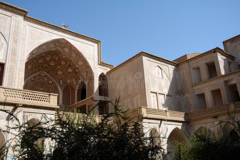 Khan-e Abbasian, Kashan, Iran. Khan-e Abbasian is an old historical mansion in Kashan royalty free stock images