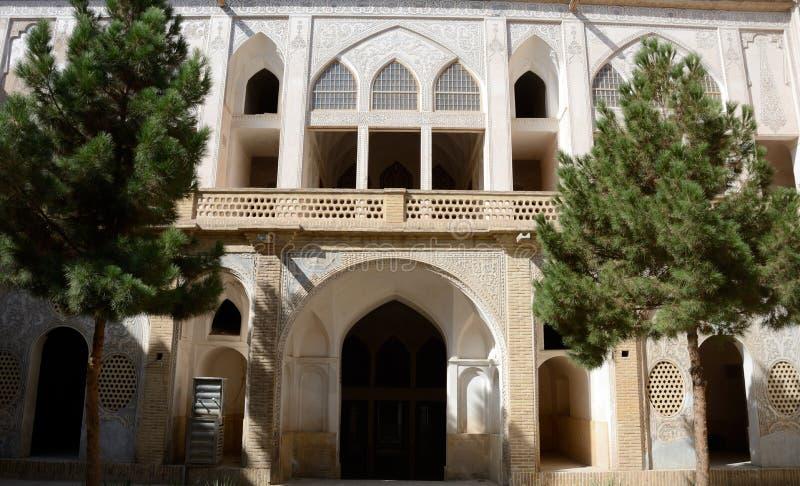 Khan-e Abbasian, Kashan, Iran. Khan-e Abbasian is an old historical mansion in Kashan royalty free stock photography