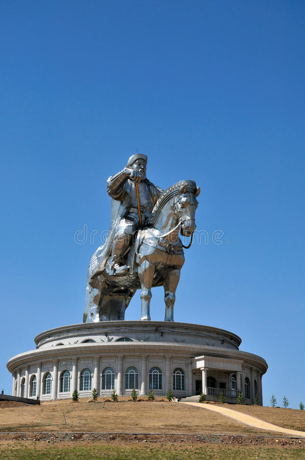 khan genghis statua zdjęcia stock