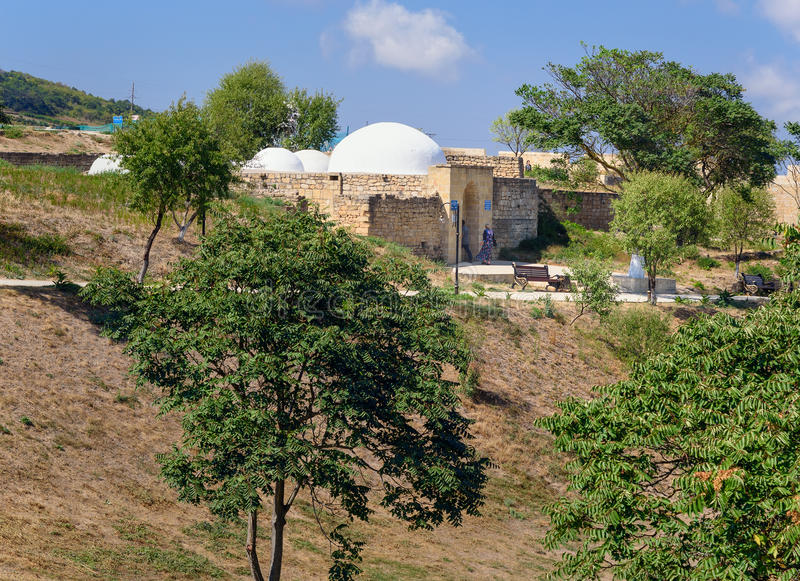 Khan`s bath in the Naryn-Kala fortress. Derbent royalty free stock photos
