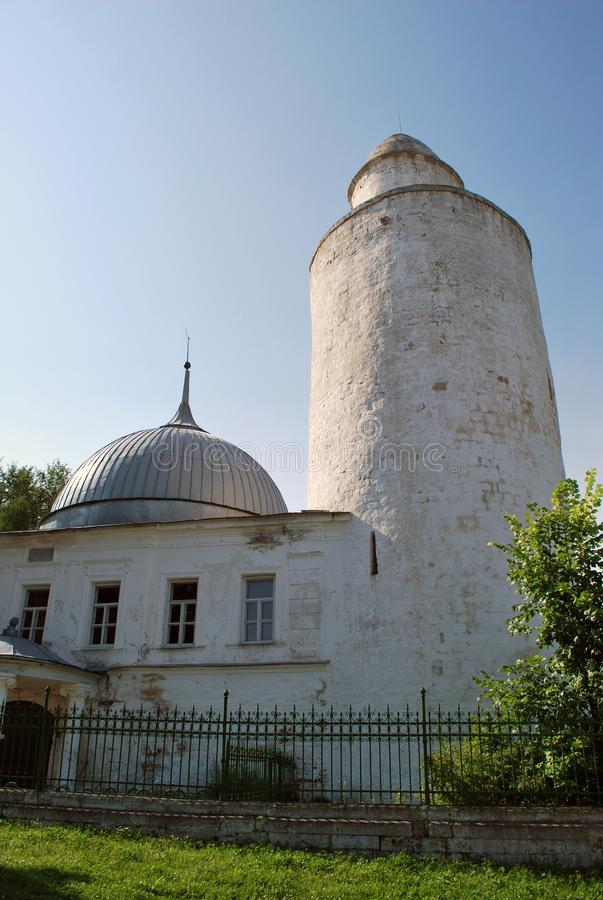The Khan`s mosque with the 15th-century minaret in Kasimov. Ryazan region, Russia royalty free stock photos