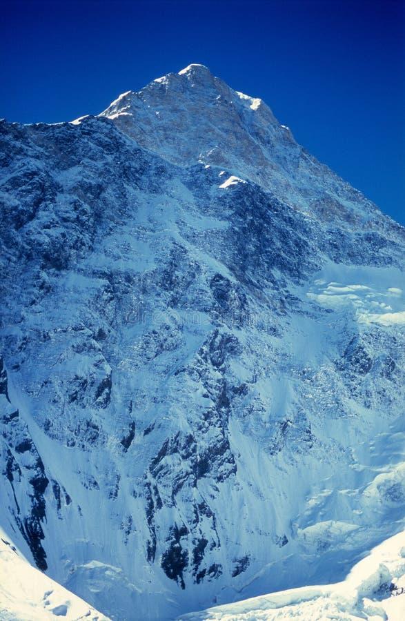 Khan Tengri Spitze (7010m) lizenzfreie stockfotos