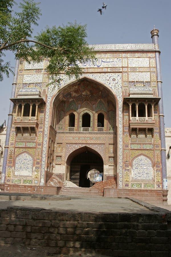 khan wazir masjid lahore стоковое фото rf