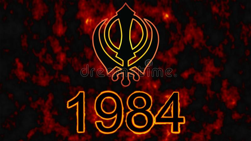 Khanda Is The Symbol Of Sikhisma Tragic Date For All Sikhs 1984