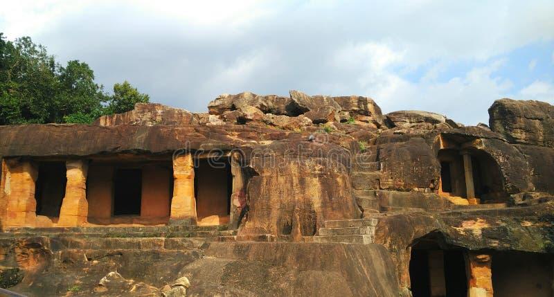 Khandagiri y Udaygiri en Bhubaneshwar, Odisha fotografía de archivo