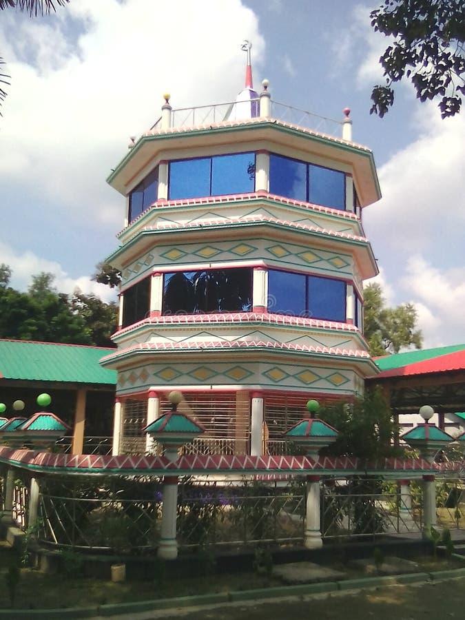 khanjahan ali moskee, khulna stock afbeelding