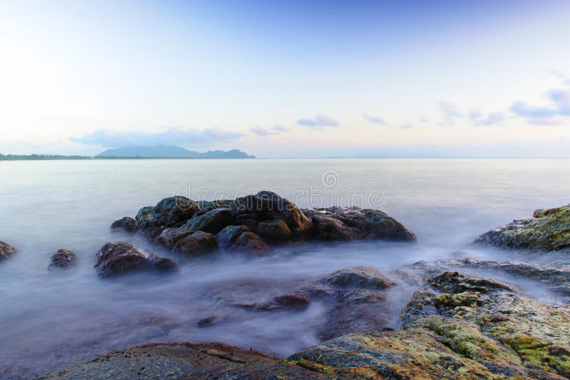 Khanom海滩 免版税库存照片