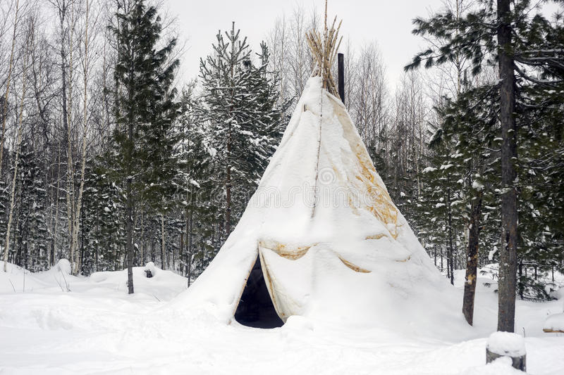 Download Khanty National Tent In The Winter Forest Stock Image - Image 63686713 & Khanty National Tent In The Winter Forest Stock Image - Image ...
