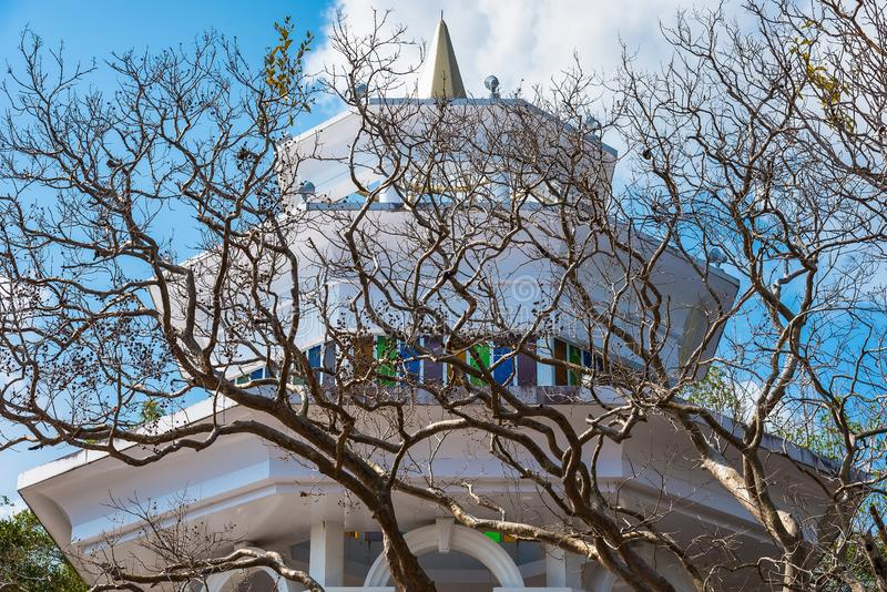 Khao在普吉岛敲响了观点,自然可以日夜是都,有猴子,观点 免版税库存照片