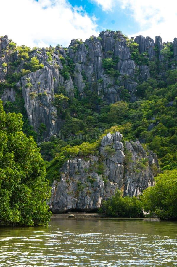 Khao Daeng, parc national de KHAO SAM ROI YOT, Thaïlande images libres de droits