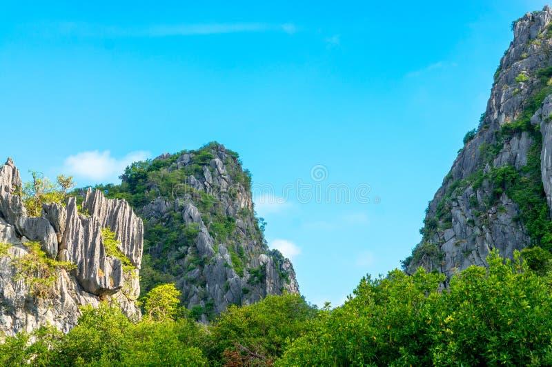 Khao Daeng, parc national de KHAO SAM ROI YOT, Thaïlande photographie stock libre de droits
