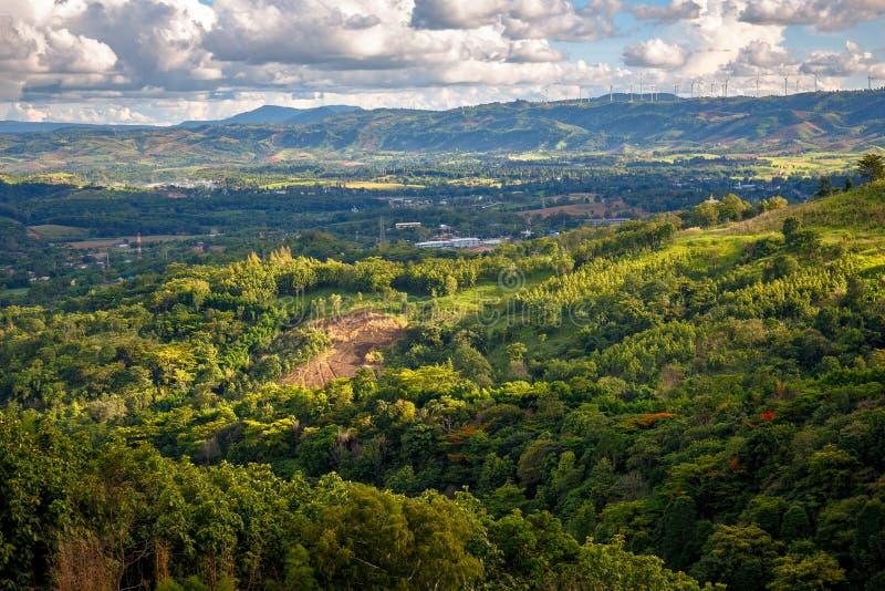 Khao Kho Mountain View w Tajlandia fotografia royalty free