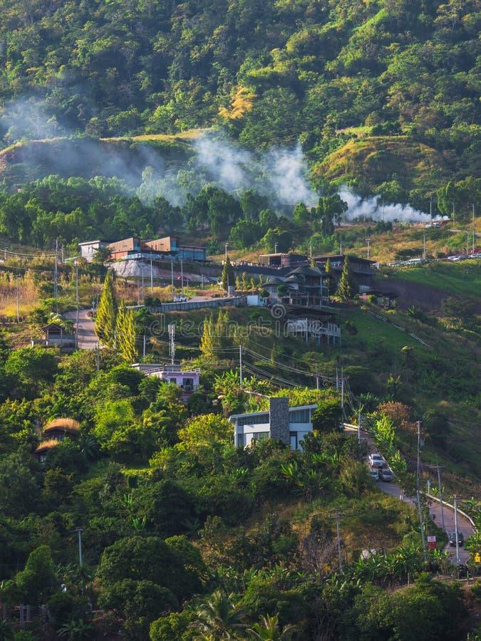 Khao Kho widok górski przy Phetchabun, Tajlandia fotografia stock