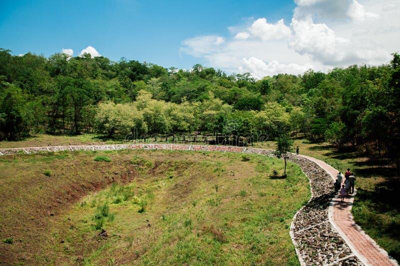 Khao Kradong Forest Park, vieux volcan dans Buriram, Thaïlande image stock