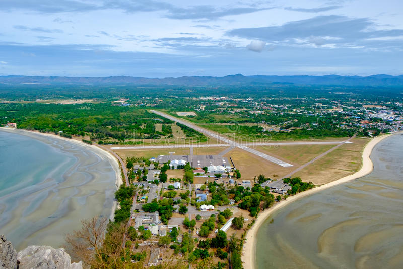 Khao Lom Muak på det Prachuap Khiri Khan landskapet Thailand arkivfoton