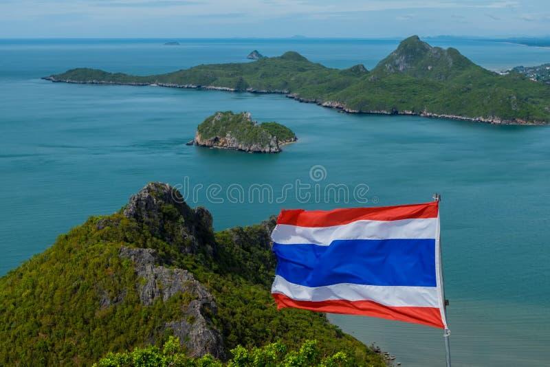 Khao Lom Muak przy Prachuap Khiri Khan prowincją Thailand zdjęcia stock