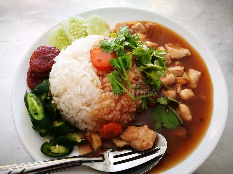 Khao Na Kai Local food Thailand stock images