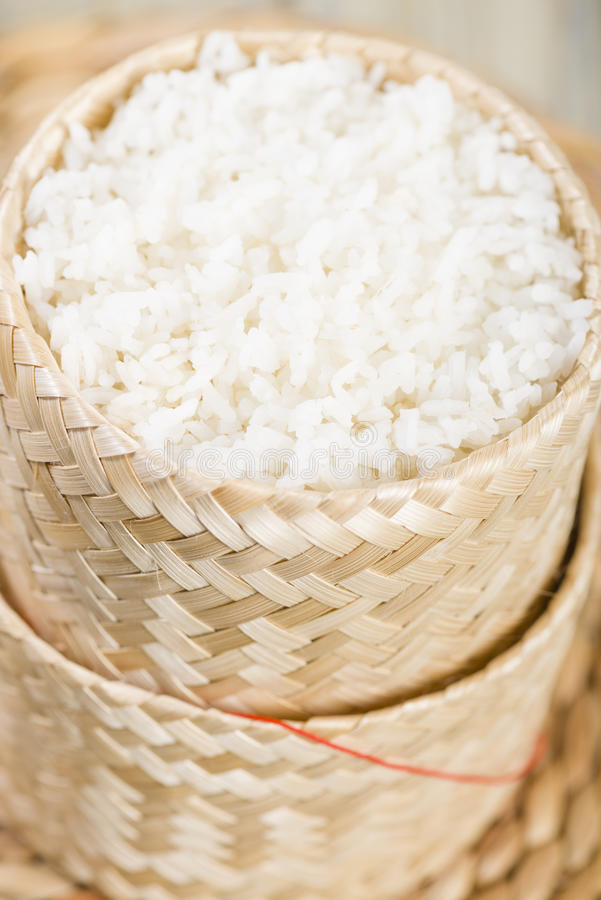 Khao Niao - Sticky Rice Royalty Free Stock Images