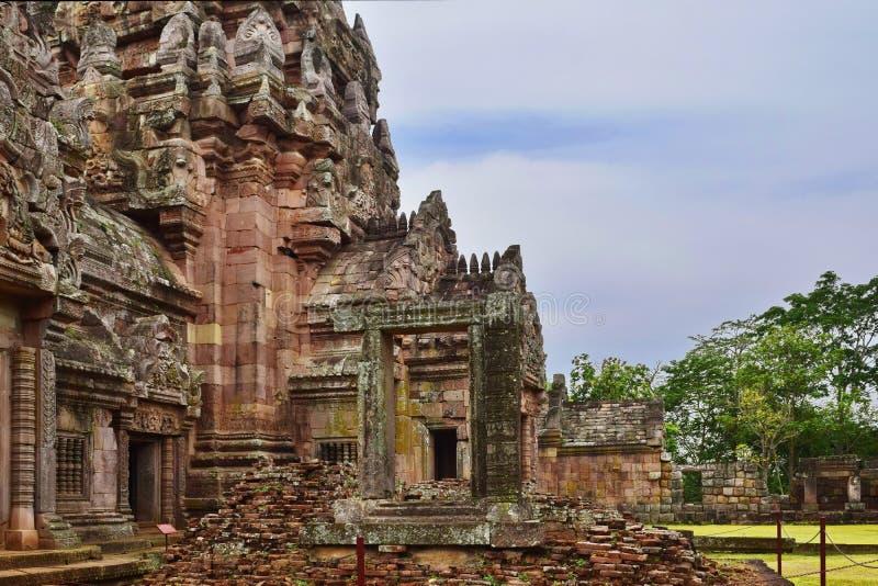Khao Phanom szczebla kasztel stary miejsce w historii w Buriram, Tajlandia fotografia stock