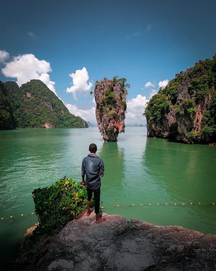Khao Phing Kan Island - Wyspa Jamesa Bonda W Phuket zdjęcie royalty free