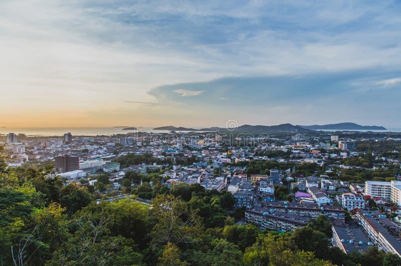 Khao Rang Hill View Point of Phuket Town. Khao Rang Hill View Point Cityscpae of Phuket Town royalty free stock photo