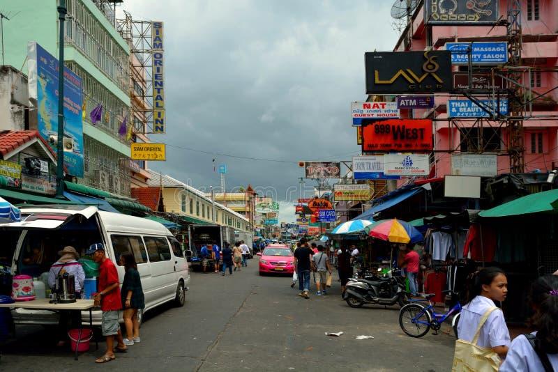 Khao San Road bangkok Der Hafen des Wanderers stockbilder
