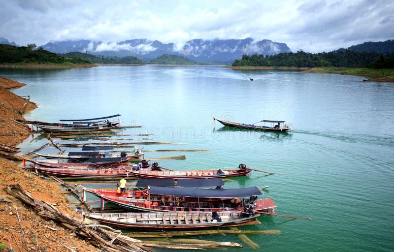 Download Khao sok nature park stock image. Image of serene, boat - 25097059
