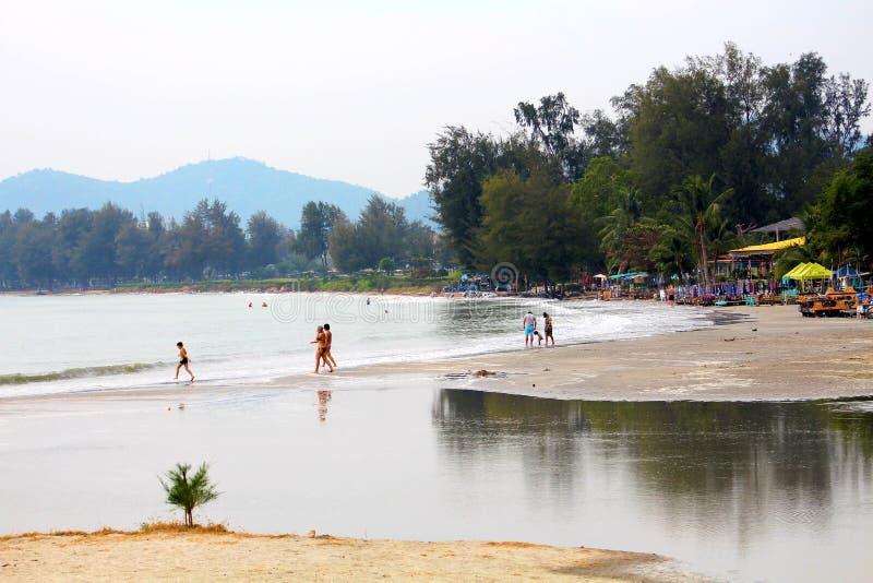Khao Takieb海滩 库存照片