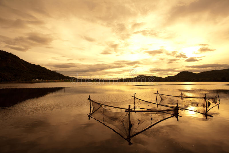 Khao Tao Reservoir. Located in a peaceful fishing village in Hua Hin district, Prachuabkirikhan Province, Thailand. Surrounded by many interesting tourist stock photos