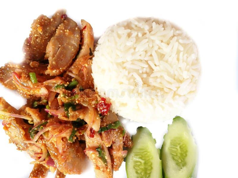 Khao Yam Spicy Chicken fotografia de stock