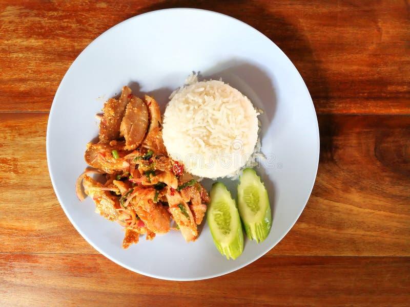 Khao Yam Spicy Chicken imagem de stock