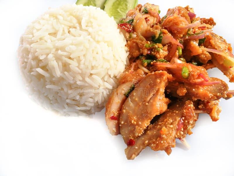 Khao Yam Spicy Chicken fotos de stock