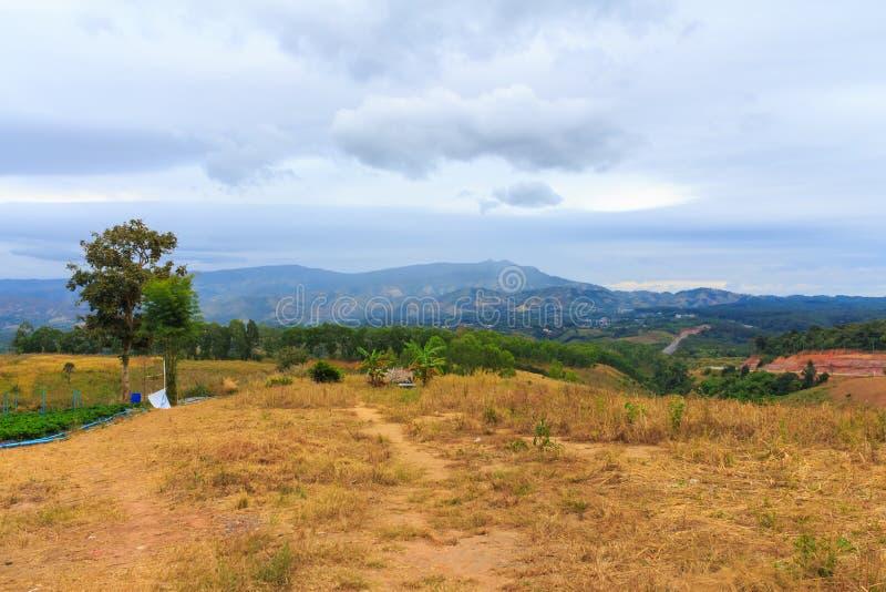 Khaokho-Landschaft mit schönem Himmel lizenzfreie stockfotos