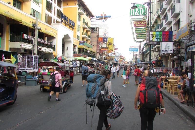 khaosan δρόμος στοκ φωτογραφίες με δικαίωμα ελεύθερης χρήσης